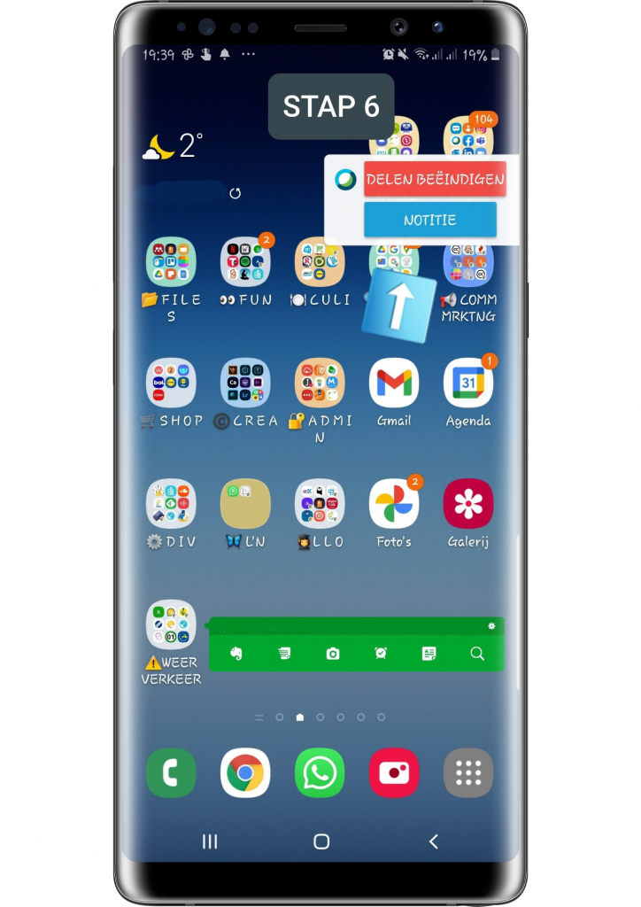 STAP 6 smartphone screenshot Webex meet