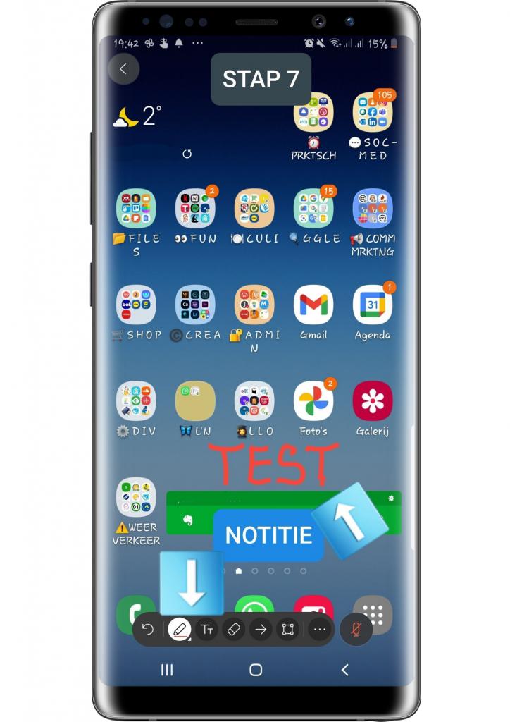 STAP 7 smartphonescherm via Webex