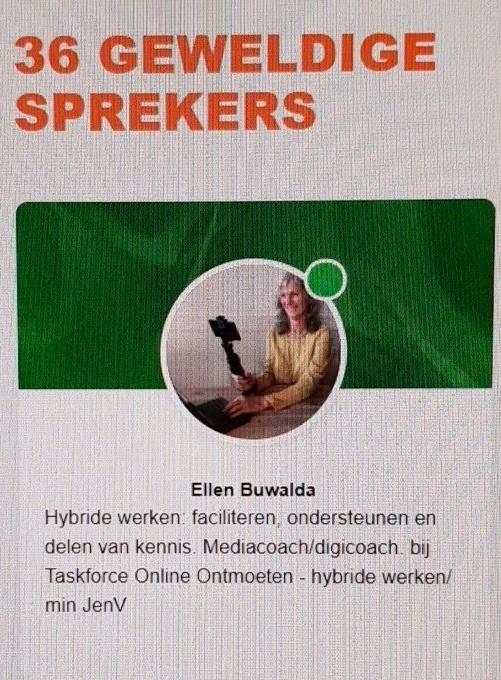 Ellen Buwalda spreker JenV carrière beurs