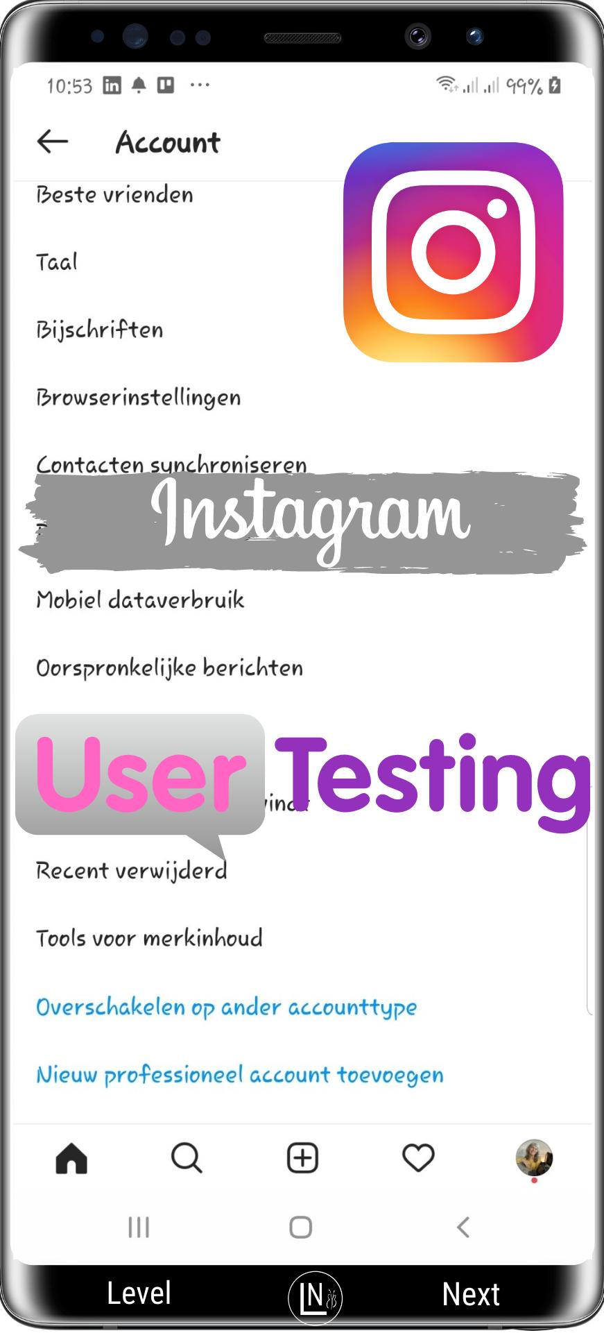 Instagram gebruikers test berichten beheer